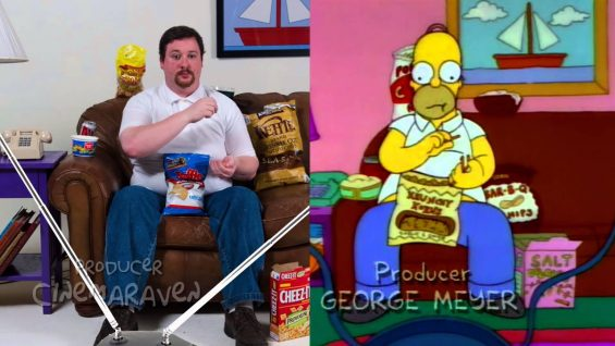 Snacking with Homer Simpson