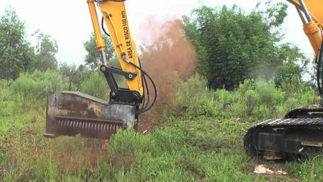 Yes Please!  Giant Excavator Eats Whole Trees In 10 Seconds
